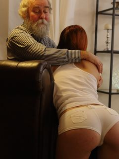 Old man gives Charli Red a total sex satisfaction